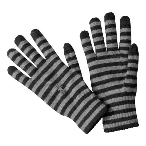 Smartwool Striped Liner Gloves Handwear - Black M