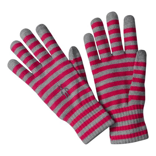 Smartwool Striped Liner Gloves Handwear - Persian Red M