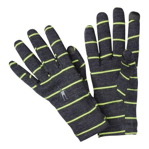 Smartwool NTS Mid 250 Pattern Gloves Handwear - Charcoal Heather S