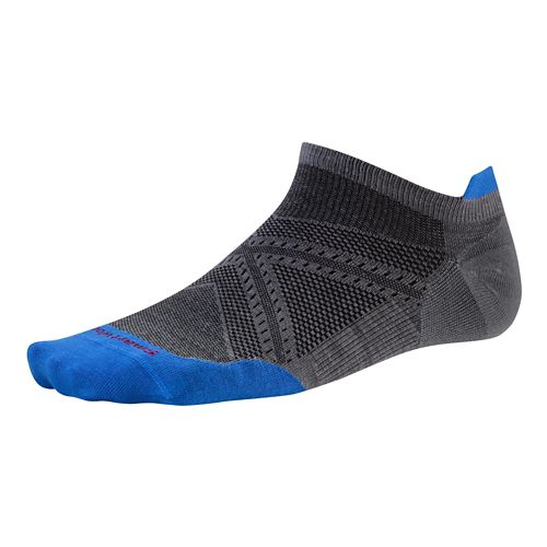 Smartwool PhD Run Ultra Light Micro Socks - Graphite/Blue L