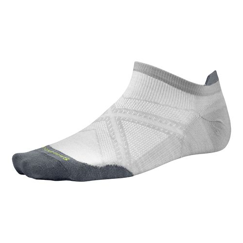 Smartwool PhD Run Ultra Light Micro Socks - Silver/Silver L