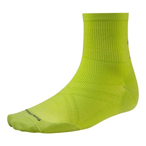 Smartwool PhD Run Ultra Light Mid Crew Socks - Green M