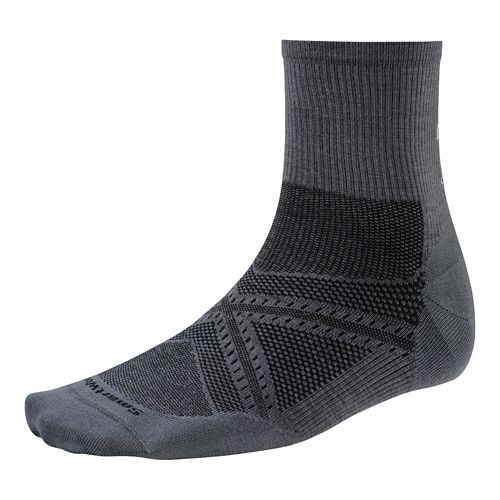 Smartwool PhD Run Ultra Light Mid Crew Socks - Graphite L