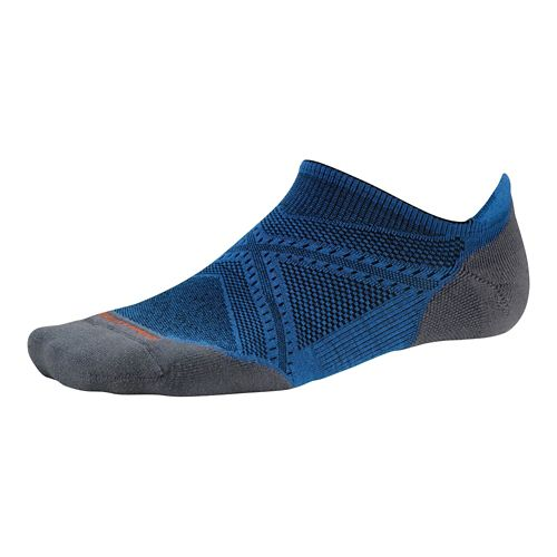 Smartwool PhD Run Light Elite Micro Socks - Bright Blue/Bright Blue L