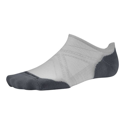 Smartwool PhD Run Light Elite Micro Socks - Silver XL