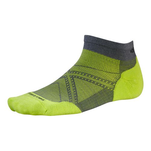 Smartwool PhD Run Light Elite Low Cut Socks - Graphite/Green M