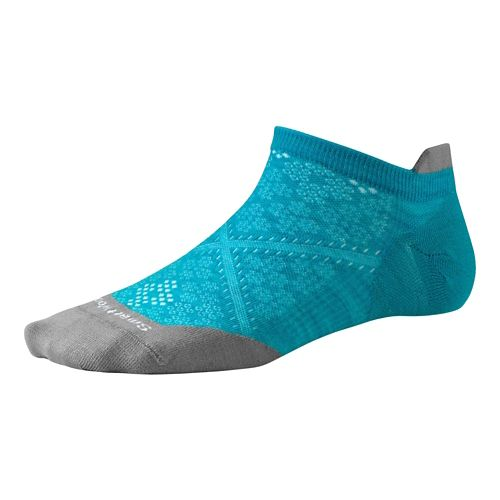 Womens Smartwool PhD Run Ultra Light Micro Socks - Capri/Capri M