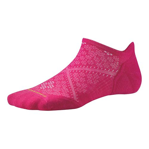 Womens Smartwool PhD Run Light Elite Micro Socks - Bright Pink M