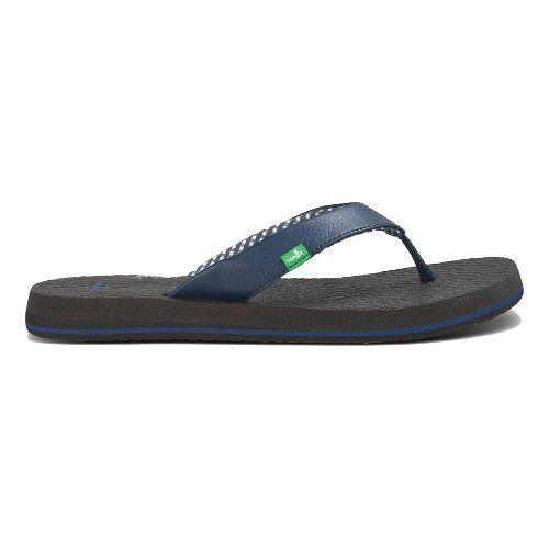 Womens Sanuk Yoga Mat Sandals Shoe - Navy 10