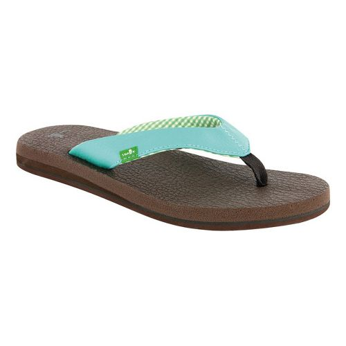 Womens Sanuk Yoga Mat Sandals Shoe - Aqua 9