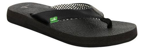 Womens Sanuk Yoga Mat Sandals Shoe - Black 5