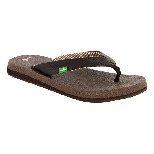 Womens Sanuk Yoga Mat Sandals Shoe - Brown 11