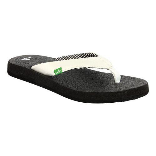 Womens Sanuk Yoga Mat Sandals Shoe - White 9