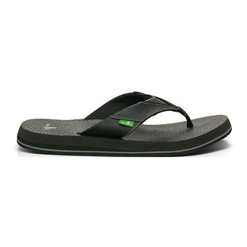 Mens Sanuk Beer Cozy Sandals Shoe - Black 10