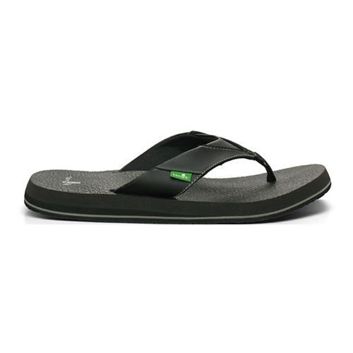 Mens Sanuk Beer Cozy Sandals Shoe - Black/Grey 7