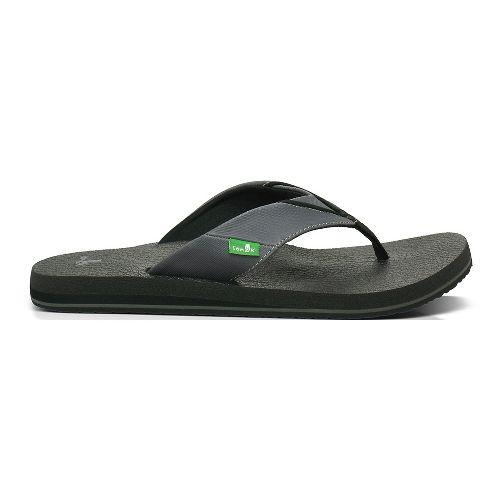 Mens Sanuk Beer Cozy Sandals Shoe - Black/Grey 7