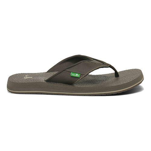 Mens Sanuk Beer Cozy Sandals Shoe - Brown 8