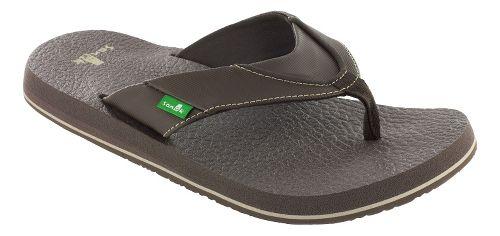 Mens Sanuk Beer Cozy Sandals Shoe - Brown 6