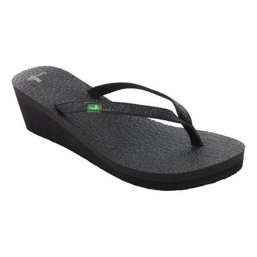 Womens Sanuk Yoga Spree Wedge Sandals Shoe - Black 10