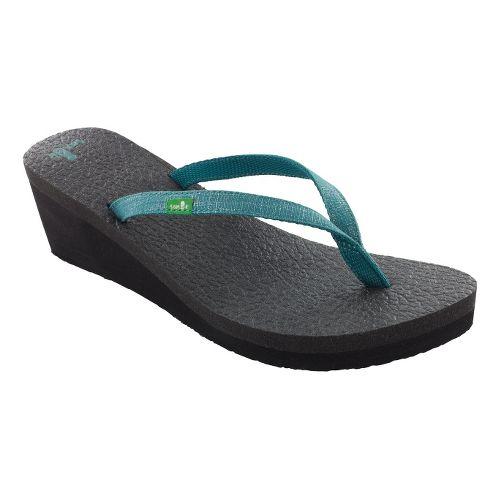 Womens Sanuk Yoga Spree Wedge Sandals Shoe - Teal 8