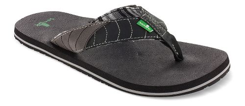 Mens Sanuk Pave The Wave Sandals Shoe - Black/Charcoal 8