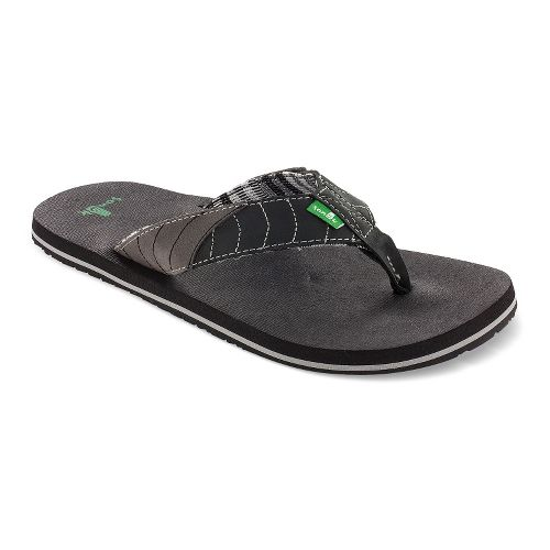 Mens Sanuk Pave The Wave Sandals Shoe - Black/Charcoal 14