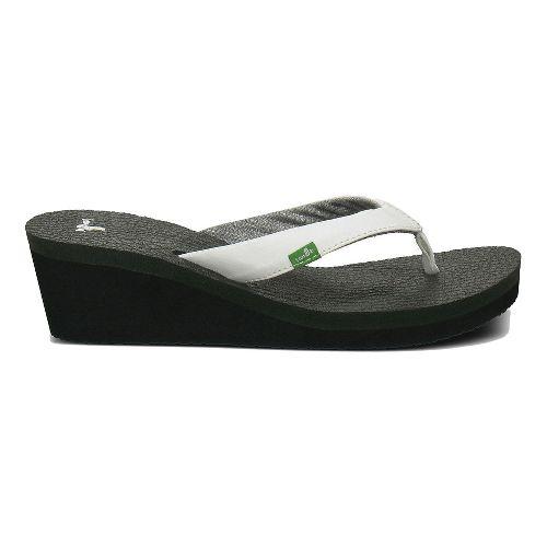 Womens Sanuk Yoga Mat Wedge Sandals Shoe - White 8