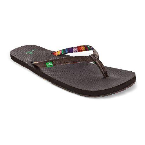 Womens Sanuk Maritime Sandals Shoe - Brown 9