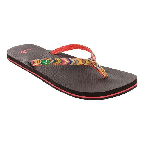 Womens Sanuk Maritime Funk Sandals Shoe - Coral/Multi 10
