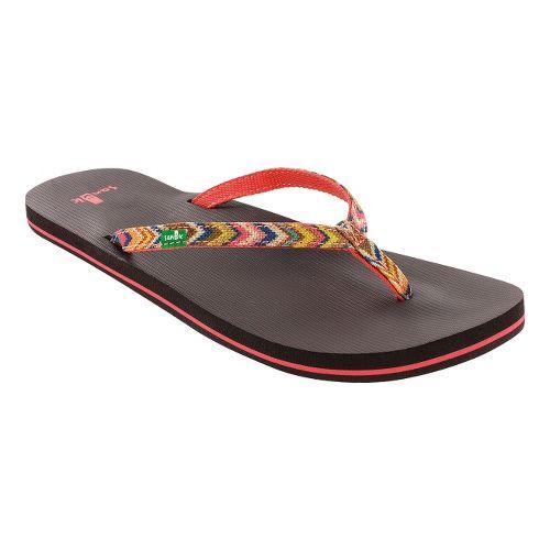 Womens Sanuk Maritime Funk Sandals Shoe - Coral/Multi 6