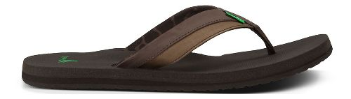 Mens Sanuk Beer Cozy Light Sandals Shoe - Dark Brown 13