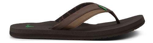 Mens Sanuk Beer Cozy Light Sandals Shoe - Dark Brown 8