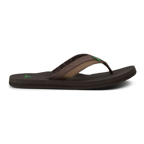 Mens Sanuk Beer Cozy Light Sandals Shoe - Dark Brown 9