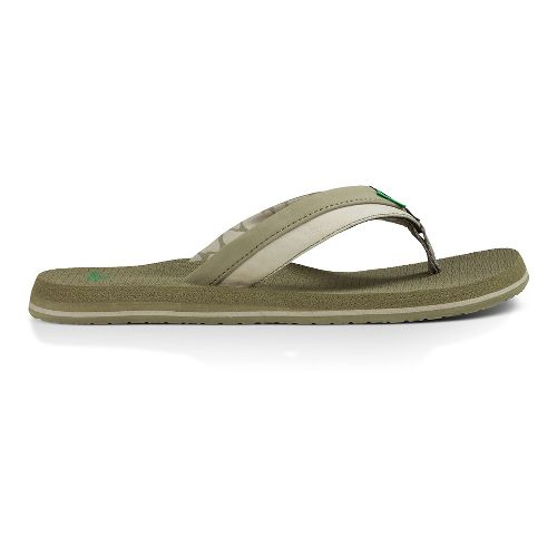 Mens Sanuk Beer Cozy Light Sandals Shoe - Brindle/Stone 9