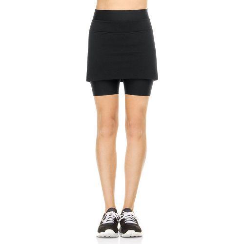 Womens Spanx Power Skort Fitness Skirts - Black L