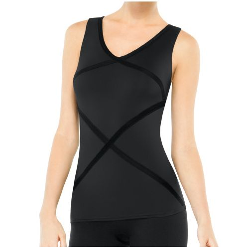 Womens Spanx Hourglass Racerback Tanks Technical Tops - Black L