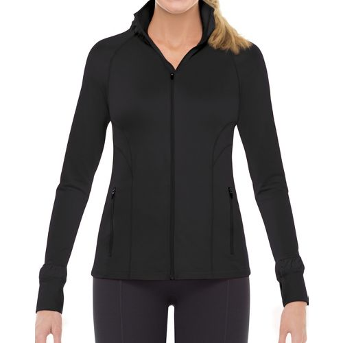 Womens Spanx Contour Warm-Up Unhooded Jackets - Black S
