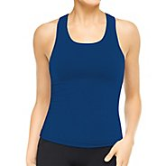 Womens Spanx Ribbed Racerback Tanks Technical Tops