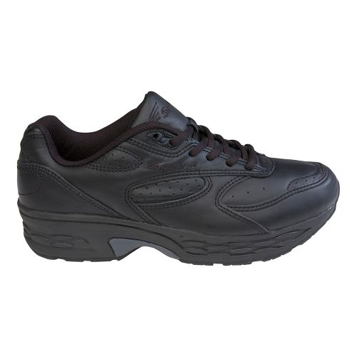 Mens Spira Classic Leather Walking Shoe - Black/Black 8