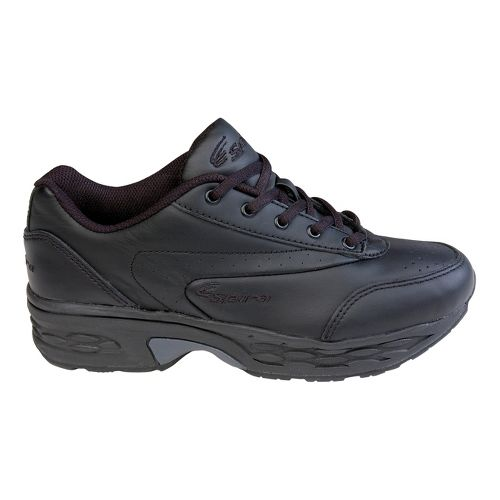 Womens Spira Classic Leather Walking Shoe - Black/Black 6