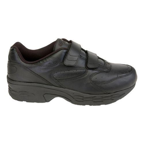 Mens Spira Classic Leather EZ Strap Walking Shoe - Black/Black 10.5