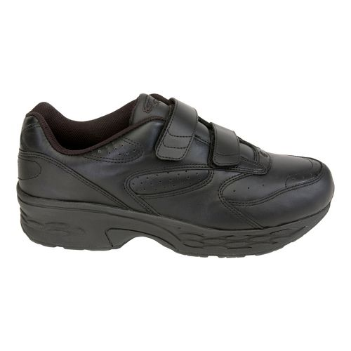 Mens Spira Classic Leather EZ Strap Walking Shoe - Black/Black 7.5