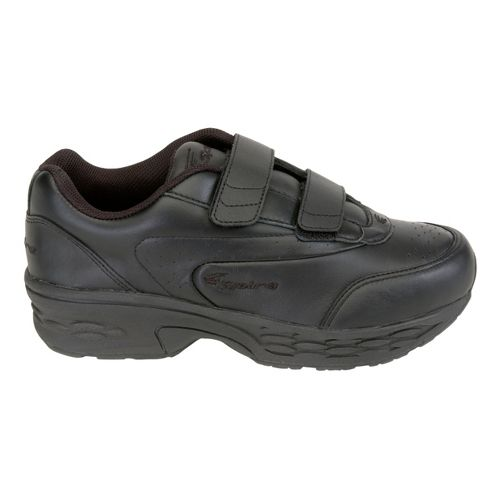 Womens Spira Classic Leather EZ Strap Walking Shoe - Black/Black 10.5