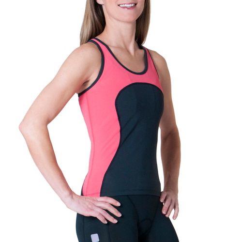 Womens Skirt Sports Multi Sport Tank Sport Top Bras - Black/Sunset Punch L