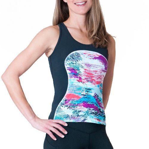 Womens Skirt Sports Multi Sport Tank Sport Top Bras - Oasis Print/Black XL