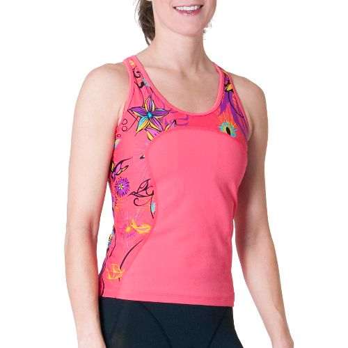 Womens Skirt Sports Multi Sport Tank Sport Top Bras - Sunset Punch/Fiesta Print XL