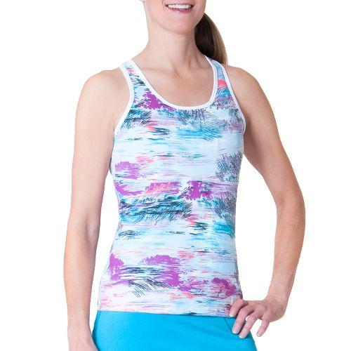 Womens Skirt Sports Wonder Girl Tank Sport Top Bras - Oasis Print XL
