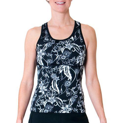 Womens Skirt Sports Wonder Girl Tank Sport Top Bras - Paradise Print S