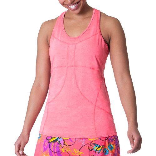 Womens Skirt Sports Adventure Girl Tank Technical Tops - Sunset Punch L
