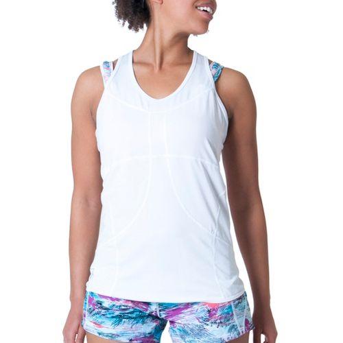 Womens Skirt Sports Adventure Girl Tank Technical Tops - White XS